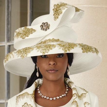 The Art of Sparkle Church Hat by Lisa Rene Black Label