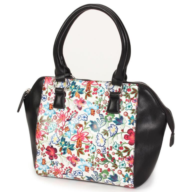 Fanciful Floral Satchel by EY Boutique