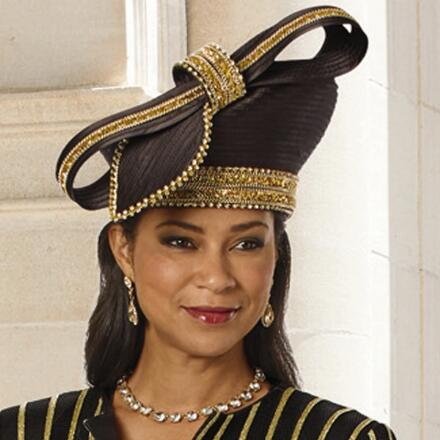 Wealth of Details Church Hat by Lisa Rene Black Label