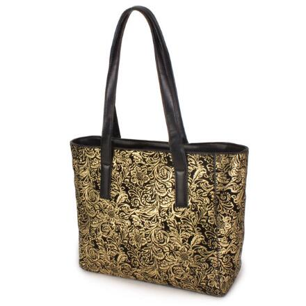 Embossed Baroque Tote By Ey Boutique