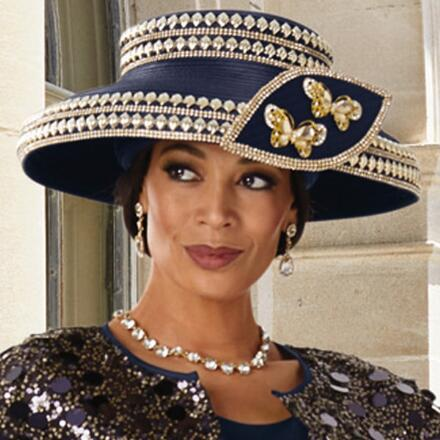 Flounce and Shine Church Hat by Lisa Rene Black Label