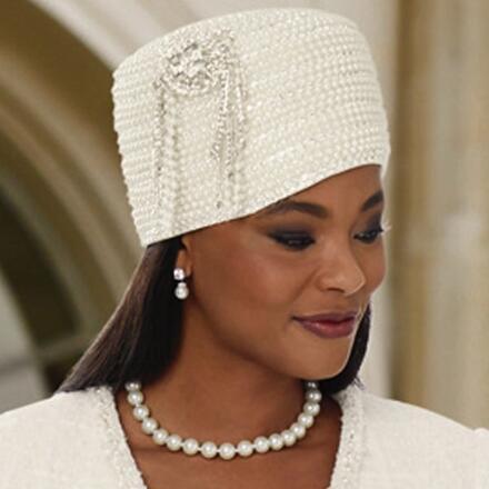 Shimmery Church Hat by Lisa Rene Black Label
