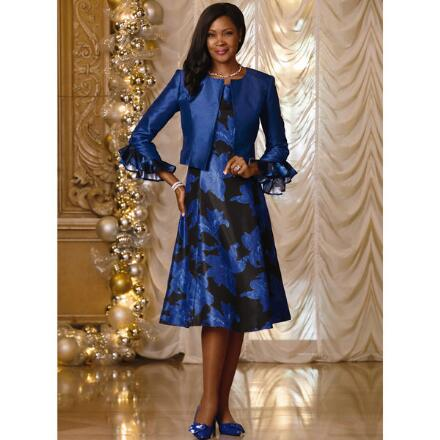 Texture 'n' Shine Jacket Dress by EY Boutique
