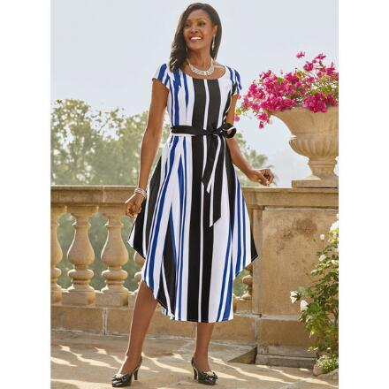 Flair for Stripes Dress by EY Boutique