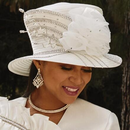 Ruffles 'n' Curves Church Hat by EY Boutique