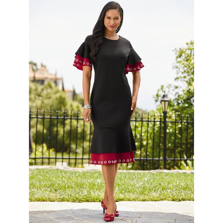Grand Grommet Flounce Dress by EY Boutique