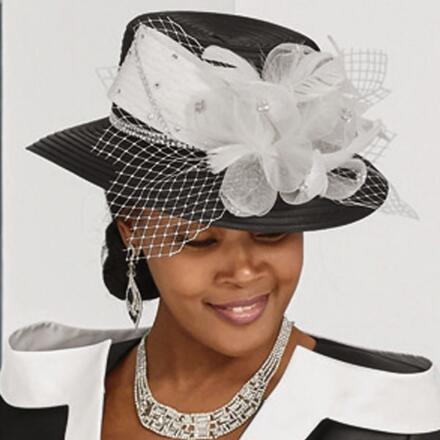 Couture Contrast Church Hat by LUXE