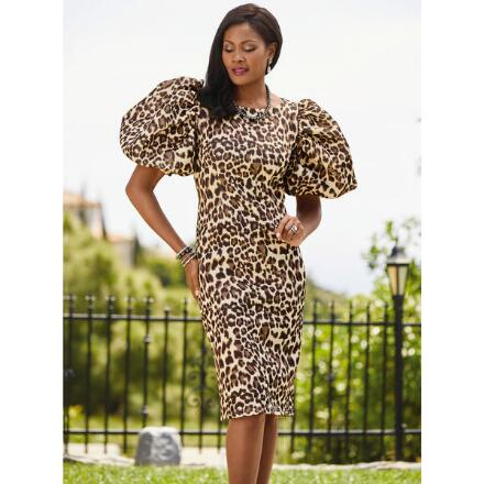 Spot-On Puff-Sleeve Dress by EY Boutique