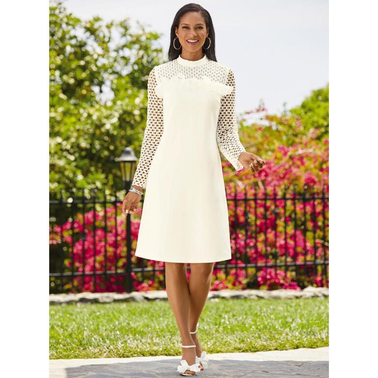 Cut Above Crochet-Trim Dress by EY Boutique