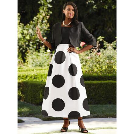 We're Big on Dots Jacket Dress by EY Boutique
