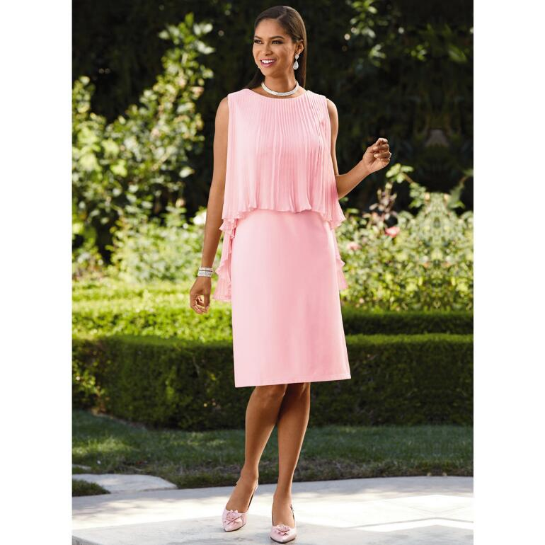 Pretty in Pleats Overlay Dress by EY Boutique