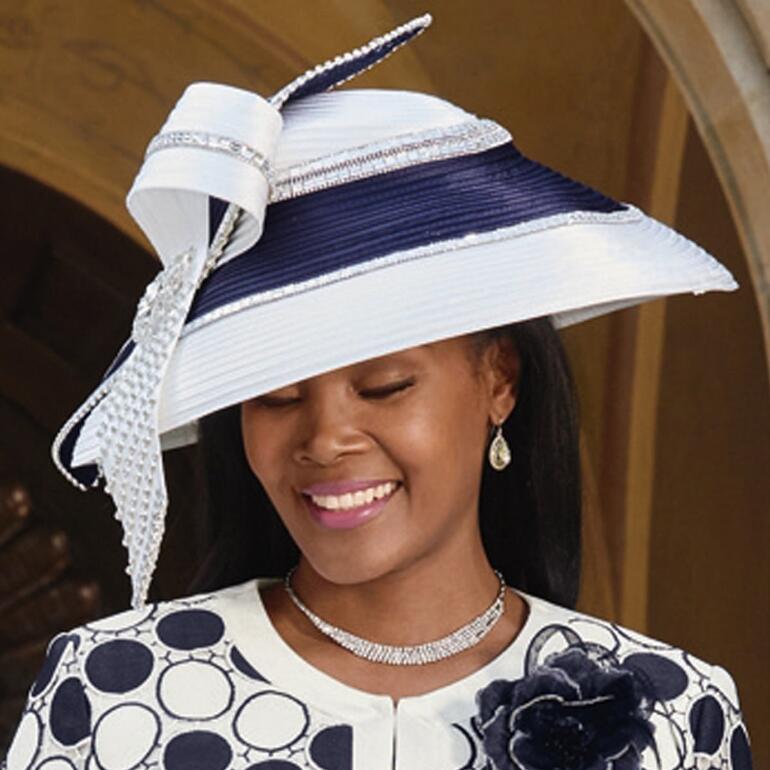 Circling the Runway Church Hat by Lisa Rene Black Label