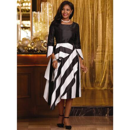 Striking Stripes Dress 2 by EY Boutique