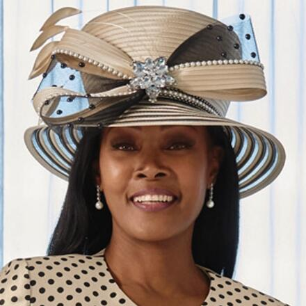 Grandly Graphic Church Hat by Lisa Rene Black Label