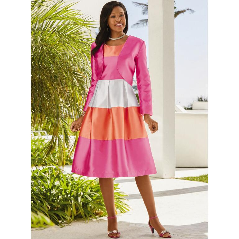 Colorblock Jacket Dress by EY Boutique