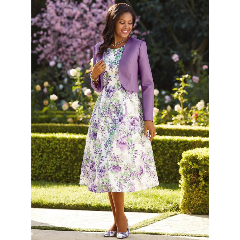 Blooming Floral Jacket Dress by EY Boutique