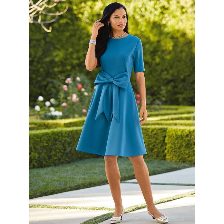 Bold Bow Knit Dress by Studio EY
