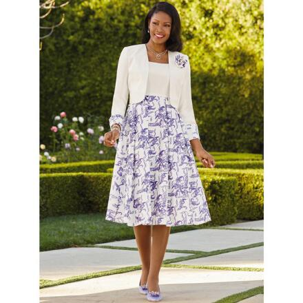 Art of Flowers Jacket Dress by EY Boutique
