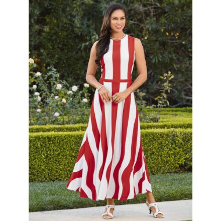 Swirls of Stripes Dress by EY Boutique