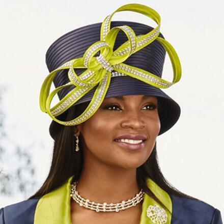 Touch of Vivid Church Hat by EY Signature