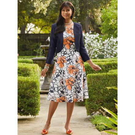 Floral Art Jacket Dress by EY Boutique