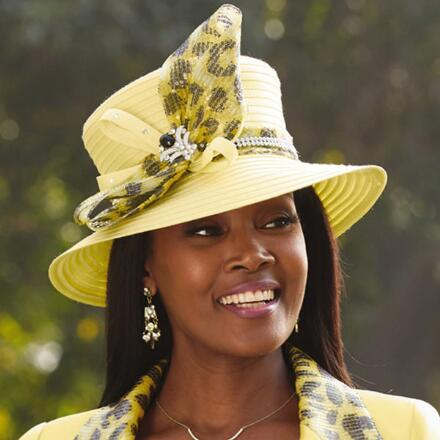 Elegance of Leopard Church Hat by Lily and Taylor