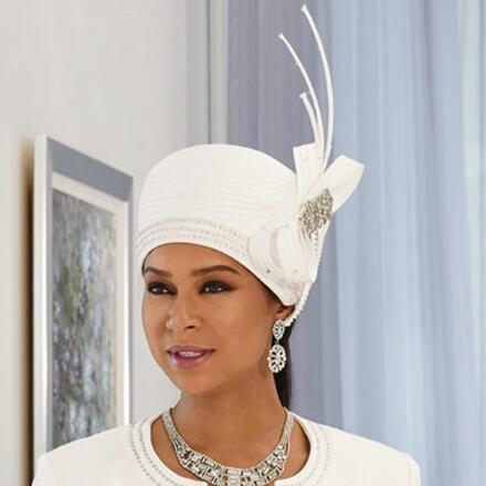 Richness of Details Church Hat by LUXE