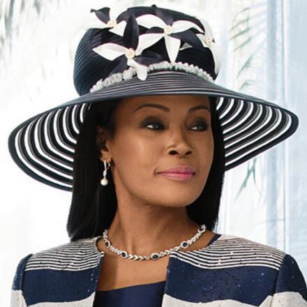 Spruce Up the Stripes Church Hat by LUXE