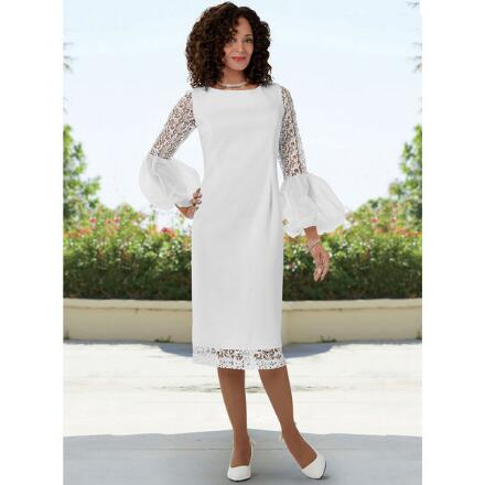 Accent on Lace Knit Dress by EY Boutique