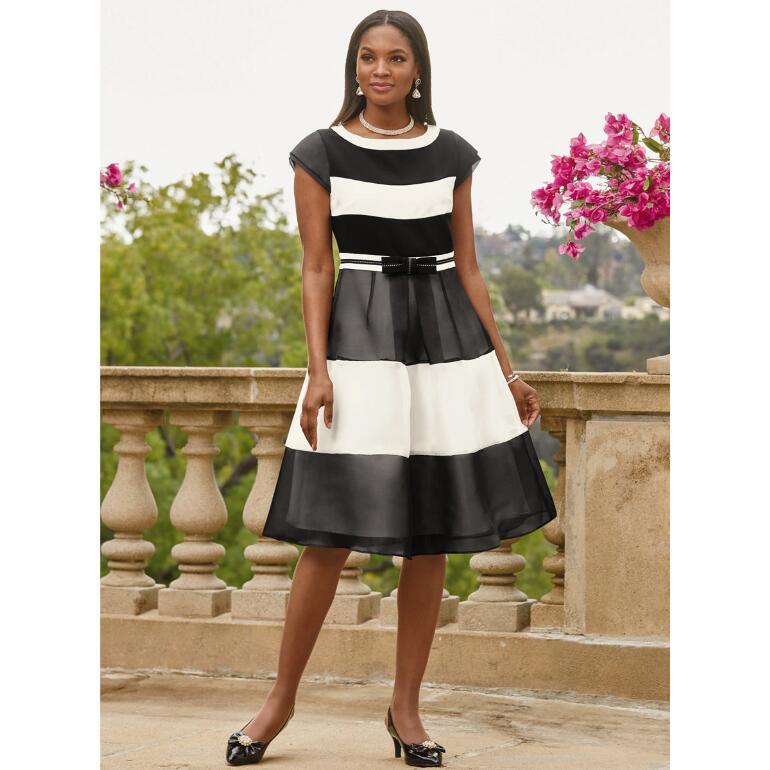 The Beauty of Bold Stripes Dress by EY Boutique