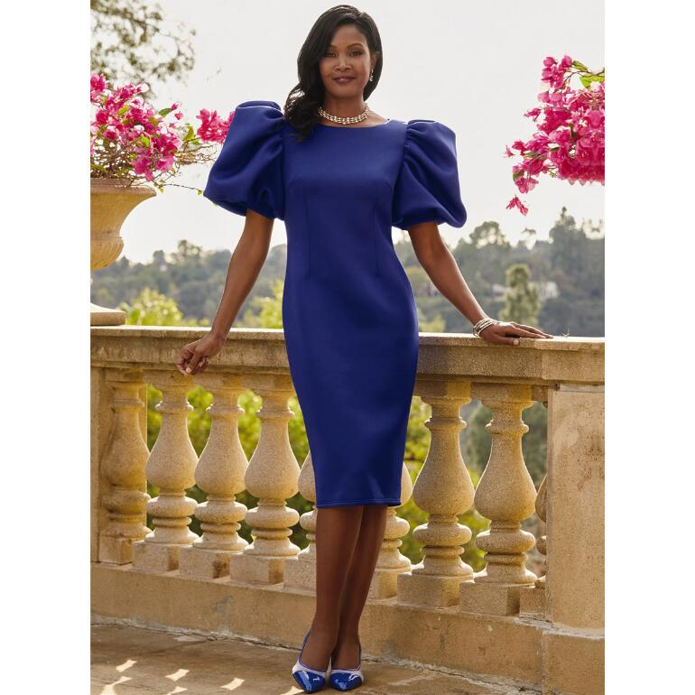 Perfection Puff-Sleeve Dress by EY Boutique