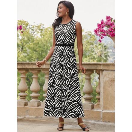 A Zest for Zebra Knit Maxi Dress by EY Boutique