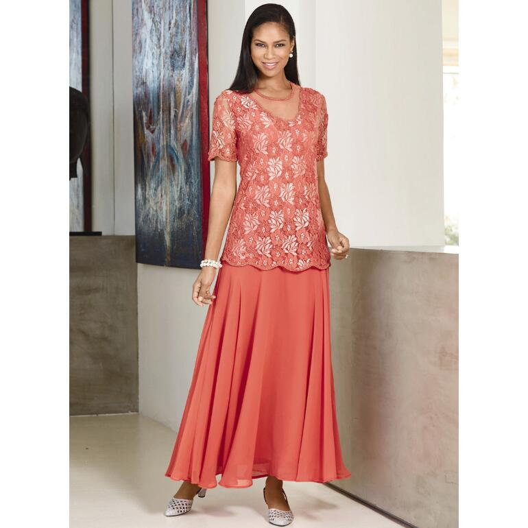 Scalloped Lacy Dress by EY Signature