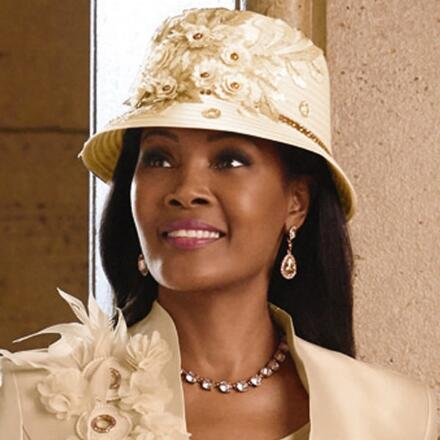 Accent on Detail Church Hat by LUXE