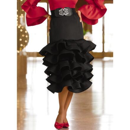 Deeply Ruffled Skirt by Studio EY