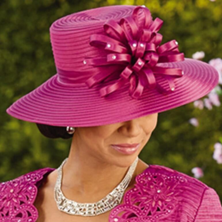 4a99248a553 New Elegance Church Hat by EY Signature