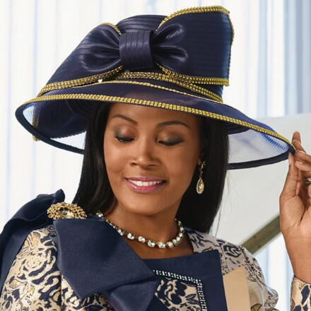 Gilded Elegance Church Hat by LUXE