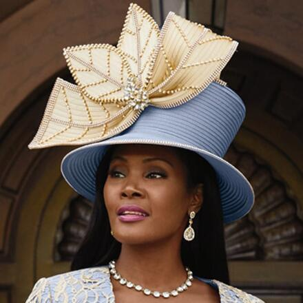 Grand Entrance Church Hat by Lisa Rene Black Label