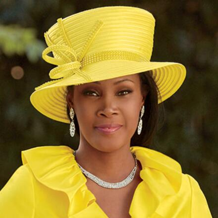 Touch of Rhinestones Church Hat by EY Signature