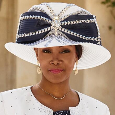 Trellis of Elegance Church Hat by Lisa Rene Black Label