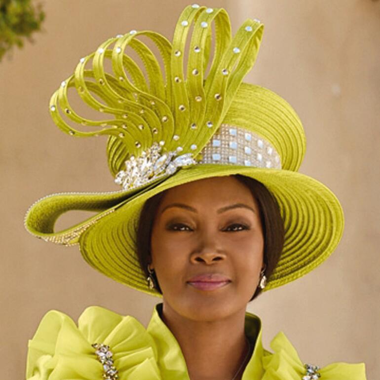 Ruffled Treasure Church Hat by Lisa Rene Black Label