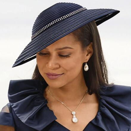 Chic and Jewels Church Hat by EY Boutique