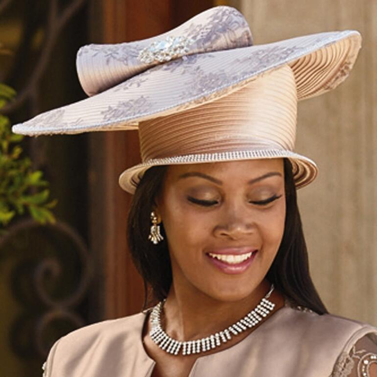 Sheer Elegance Church Hat by Lisa Rene Black Label