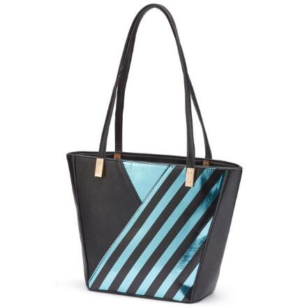 Stripe It Rich Tote by EY Boutique