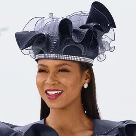 Ravishing Ruffles Church Hat by EY Boutique