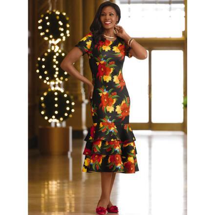 Flounce Floral Dress by Studio EY