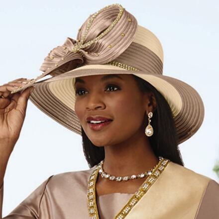 Too Beautiful Two-Tone Church Hat by EY Boutique
