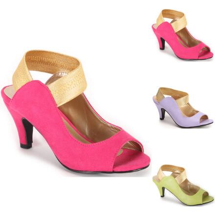 Color Closeout Strapeze Slingbacks by EY Boutique