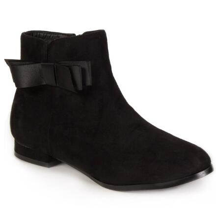 Color Closeout Sueded Bow Bootie by EY Boutique