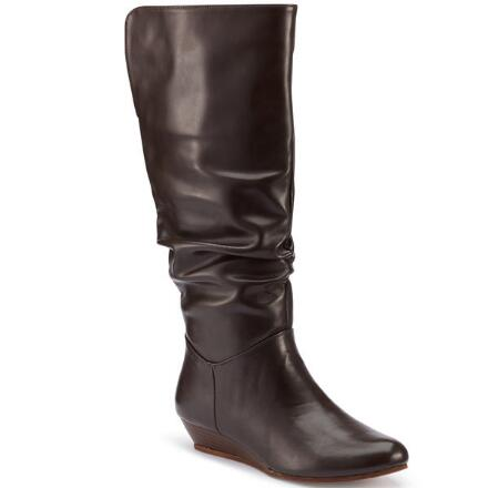 Color Closeout Scrunch-Style Wedge Boot by EY Boutique